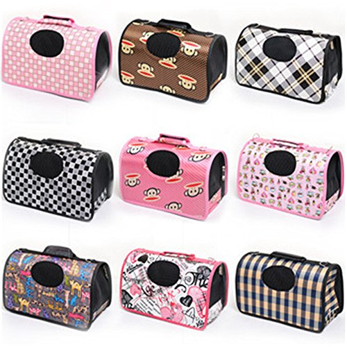 Pet Carrier for Small Dogs and Cats foldable Size S/M/L large carrier for small pets travel crate kennel bag puppy (S)