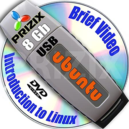 Ubuntu 12.10 on 8gb USB Stick Flash Drive and Complete 3-discs DVD Installation and Reference Set, 32 and 64-bit