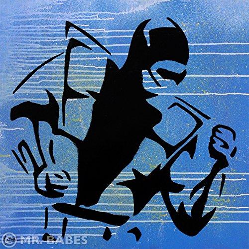 mrbabes-mortal-kombat-sub-zero-original-pop-art-painting-one-of-a-kind-acrylic-on-canvas-signed-30-x