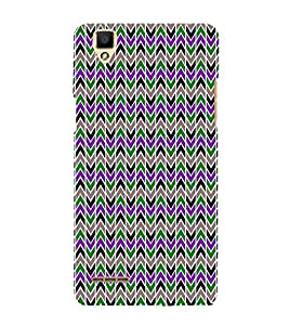 Lovely Cross Chevron 3D Hard Polycarbonate Designer Back Case Cover for Oppo F1