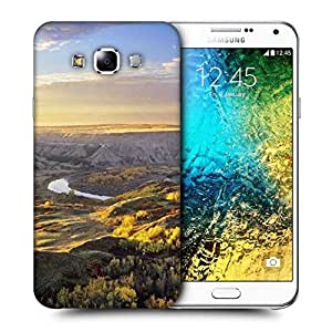 Snoogg Yellow Grass On Hills Printed Protective Phone Back Case Cover ForSamsung Galaxy E7