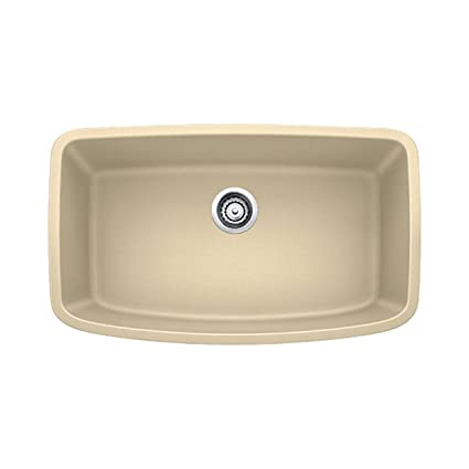 Blanco 441612 Valea Super Undermount Single Bowl Kitchen Sink, Large, Biscotti