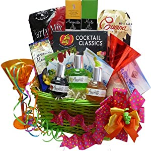Art of Appreciation Gift Baskets Party Pack and Drink Mix Gift Basket, Cocktail Classics
