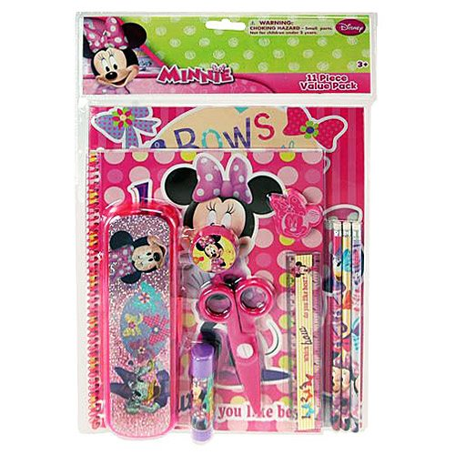 Minnie Mouse 11 Piece Stationary Value Pack - 1
