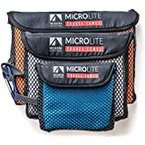 Best Travel Towel Bundle Includes Extra Large, Large & Small Quick Dry Compact Microfiber Camping Towels. Also Great for Sport, Backpacking, Beach, Yoga and Bath..