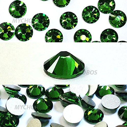 FERN GREEN (291) Swarovski NEW 2088 XIRIUS Rose 34ss 7mm flatback No-Hotfix rhinestones ss34 18 pcs (1/8 gross) *FREE Shipping from Mychobos (Crystal-Wholesale)*