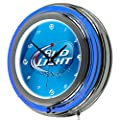 Trademark Global Bud Light Neon Wall Clock, 14-Inch