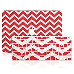 TopCase 2 in 1 - Chevron Series Ultra Slim Light Weight Hard Case Cover Plus Matching Color Chevron Zig-Zag Keyboard Cover Skin for Macbook Pro 13-inch 13\