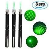 Bedoo 3pcs Green Pointer Demonstration Projector Pen > pet Toys (cat/Dog)> Used in Education/Medicine/Real Estate/Camping/Outdoor Entertainment LED Lighting/Field Exploration (green) (Color: green)