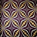 African Print Fabric Cotton Print Shuriken Purple 44'' wide By The Yard Purple White Brown