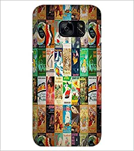 PrintDhaba Books Pattern D-4531 Back Case Cover for SAMSUNG GALAXY S7 (Multi-Coloured)