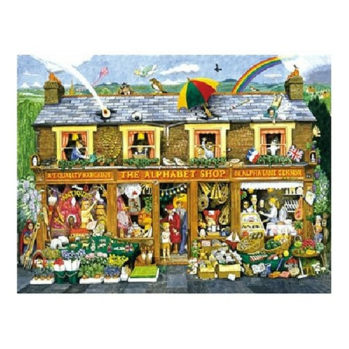 SunsOut The Alphabet Shop Floor Puzzle, 48 Pieces