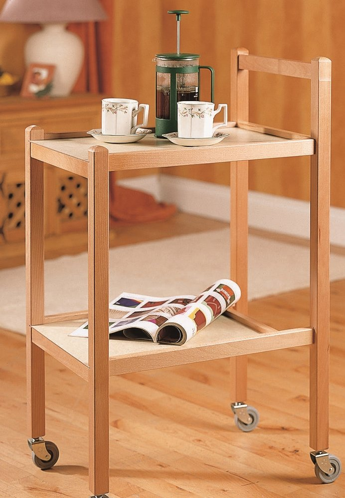 NRS Traditional Style Wooden Household Trent Trolley Small       Customer reviews and more info