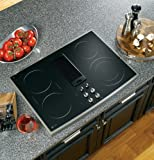 "GE PP989SNSS Profile 30"" Stainless Steel Electric Smoothtop Cooktop - Downdraft"