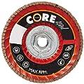 "CoreTemp 76540 Type 29 Regular Density Abrasive Flap Disc with Plastic Turbo Backing, Metal Threaded Hub, Zirconium, 5"" Diameter, 5/8""-11 Arbor, 40 Grit  (Pack of 5)"