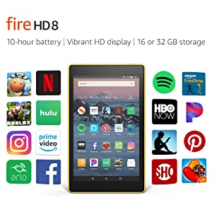 All-New Fire HD 8 Tablet | 8 HD Display, 16 GB, Canary Yellow - with Special Offers