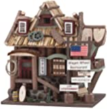 Gifts & Decor Wood Wagon Wheel Restaurant Wooden Bird House (Discontinued by Manufacturer)