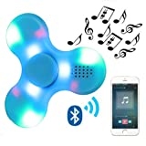 Kivors Speaker Fidget Spinner, Children's Day Gift Wireless Bluetooth Speakers Music Fidget Spinner Toy Reducer EDC Hand Spinner for ADHD, Anxiety, Autism Kids Adult Toy Gifts, Blue (Color: Blue)
