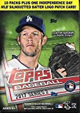 2017 Topps Series 2 Baseball Blaster Box - 10 Packs plus 1 Independence Day Batter Logo Patch Card