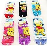 Disney Winnie the Pooh Socks (3 Piece Set) Ankle Socks (Size 9-11) Shoe Size (4-10)