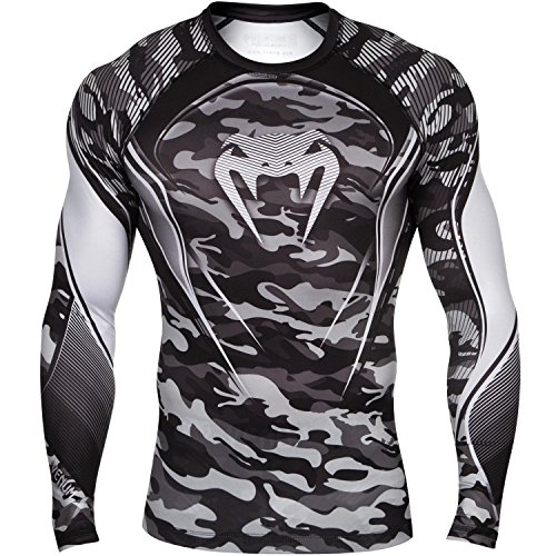 Venum - Compression Maglietta da uomo Camo Uomo Hero, Uomo, Compression T-shirt Camo Hero, bianco / nero, L