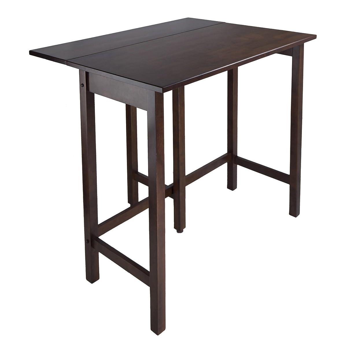 Winsome Wood Lynnwood Drop Leaf High Table, Walnut