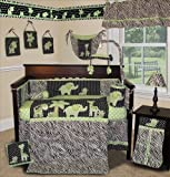 SISI Baby Boy Boutique Animal Planet Lime 15 Pc Baby Bedding Nursery Crib Set by Sisi