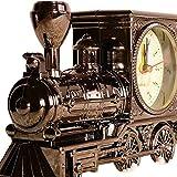 R&K's Company レトロ! かわいい 機関車 型 アンティーク 風 目覚まし 時計 クリーニングクロス付き2点セット インテリア 置時計 アラーム クロック プレゼント にも S169 (ブラッククローム)