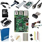 Raspberry Pi B+ Ultimate Starter Kit-- Includes 200 Page User Guide (over 40 components--Raspberry Pi B Plus + WiFi Dongle + 8GB Kingston Micros SD Card + Case + Power Supply and many more)