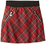 Beautees Big Girls Plaid Skirt with Zippers
