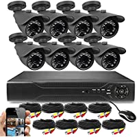 Best Vision 16-Ch. HD DVR Security System with 8 1MP IR Bullet Cameras 1TB Hard Drive