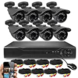 Best Vision 16-Channel D1 DVR Security System with 8 800TVL IR Outdoor...