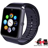 GT08 Smart Watch Bluetooth Smart Watch with Camera/Pedometer Analysis/Sleep Monitoring for Android (Full Functions) and IOS (Partial Functions)(Black) (Color: GT08 Black)