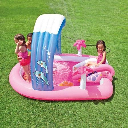 Intex-Hello-Kitty-Play-Center-Inflatable-Kiddie-Spray-Wading-Pool-Slide