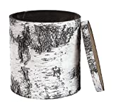 (USA Warehouse) Surreal Planters Fake Birch Stump Cooler with Realistic Log Bark B90-COOLER -/PT# HF983-1754361286