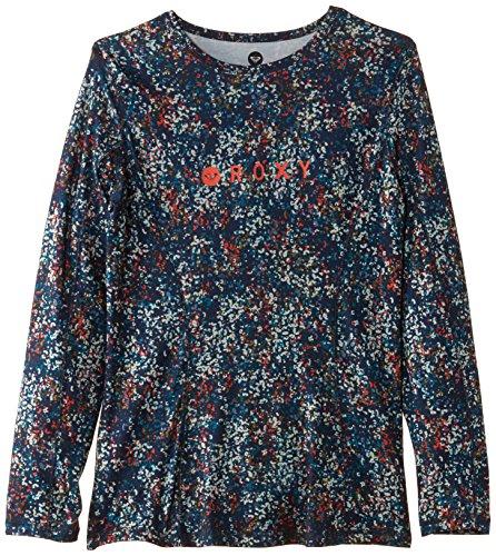 Roxy, Maglietta termica Donna Glimmer Top, Blu (Color Fizz_ Peacoat), XL