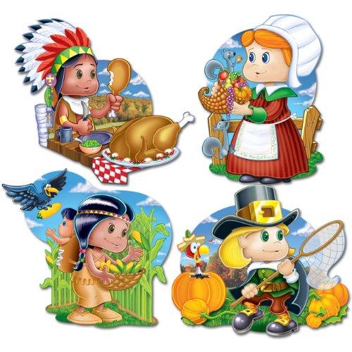 Pkgd Thanksgiving Kiddie Cutouts   (4/Pkg)