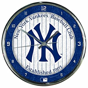 MLB New York Yankees Chrome Clock by WinCraft