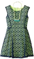 My Michelle Big Girls' Fit-and-Flare Dress with Necklace