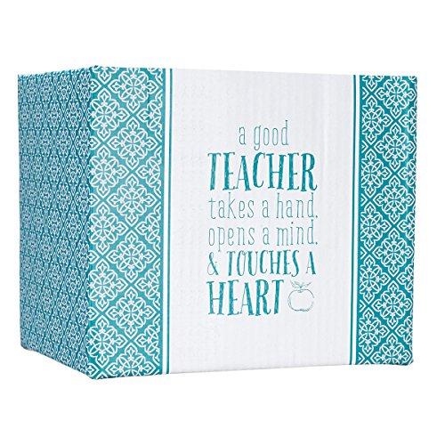 "Blue Blessings to the Teacher ""Touches a Heart"" Mug - 1 Corinthians 16:14"