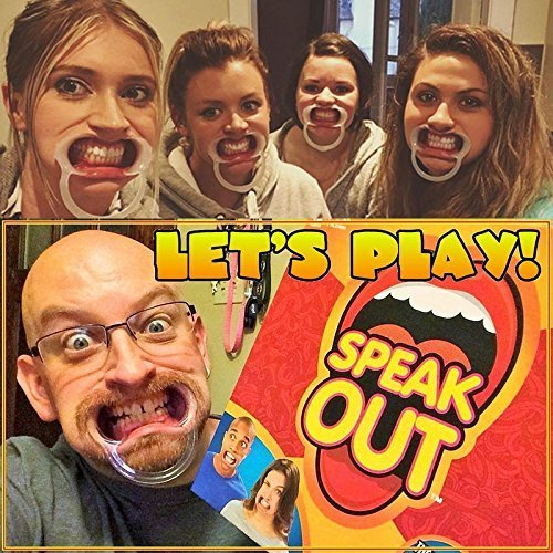 Olayer Speak Out Mouthpiece Board Game Party Challenge Friends Clown Game Witty Banter
