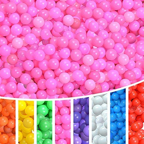 Lightaling 100pcs Ocean Balls Soft Plastic Pit Balls Pink
