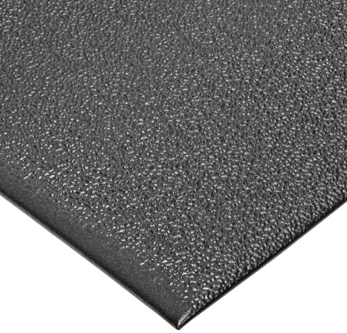 "NoTrax T41 Heavy Duty PVC Safety/Anti-Fatigue Comfort Rest Pebble Foam, For Dry Areas, 4' Width x 6' Length x 9/16"" Thickness, Coal"