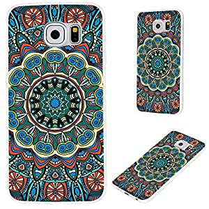 S6 case,Galaxy S6 case,Samsung S6 case, VoMotec [Floral series] Anti-scratch Slim Flexible Soft TPU Protective Skin Cover Case For Samsung Galaxy S6,oriental ethnic rose blue green mandala