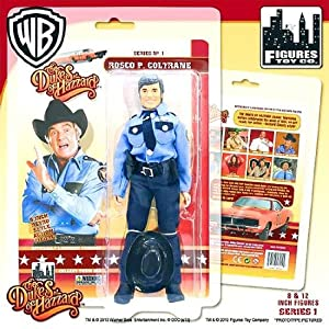 Roscoe P. Coltrane Dukes of Hazzard 8 Inch Action Figure