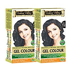 Indus valley gel colour ( No harmful ingredients,contain natural herbs like aloevera, jojoba oil, fenugreek) Dark brown-3.0