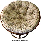 Cotton Craft - Papasan - Crewel Embroidered Natural Multi - Overstuffed Chair Cushion - Sink into our Really Thick and Super Comfortable Papasan Cushion - Pure 100% Cotton duck fabric - Perfect fit for your dorm, den or just about anywhere you want to be comfy and pampered - Fits Standard 45 inch round Papasan Chair - Chair not included