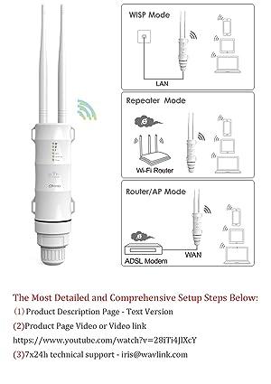 WAVLINK ARIEAL HD2 - AC600 Outdoor WiFi Access Point High