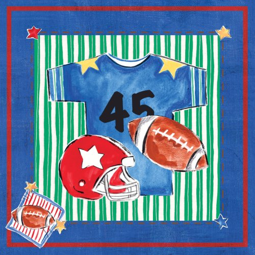"Art 4 Kids ""Blue Jean Football"" Mounted Art Print, 18""X18"""