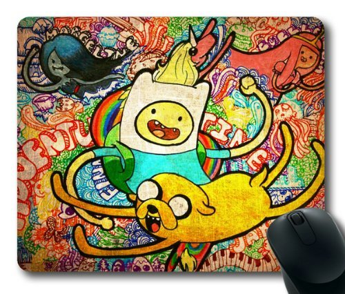 cartoon-adventure-time-rectangle-mouse-pad-by-eemuse